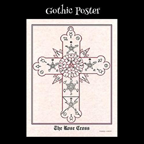 ゴシックポスター 魔術系ポスター /  Rose Cross