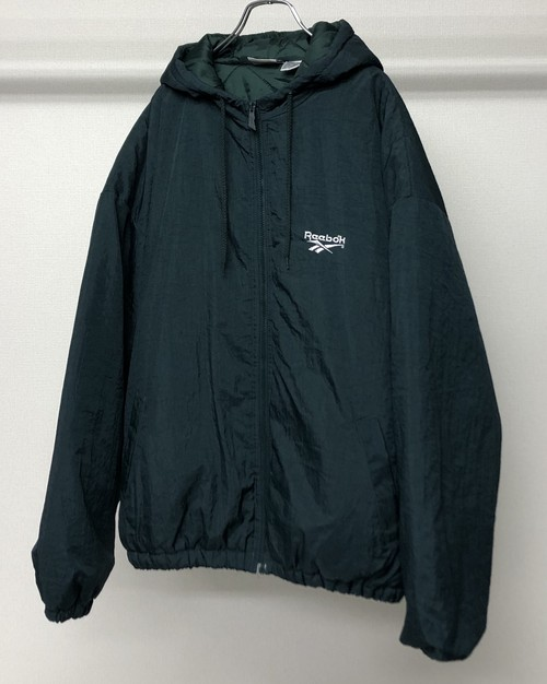 1990s REEBOK HOODED NYLON JACKET