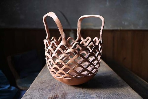 Ko Soda  Leather Basket Bowl(ラスカバン)