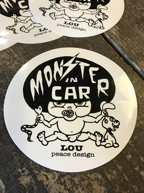 Monster in car ステッカー