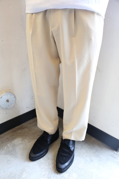Beige Straight Slacks