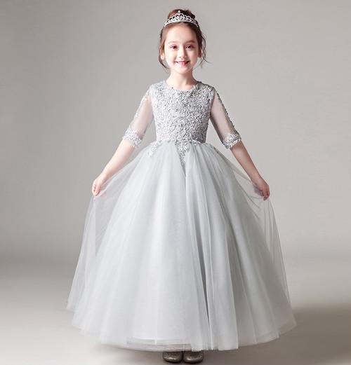 d1f4e0432297c ... 衣装 誕生日 ロングスカート. ピアノ発表会や結婚式など、フォーマルな場面にピッタリなお子様用のドレスです☆  繊細な刺繍やレースが高級感を一層際立たせてくれ ...