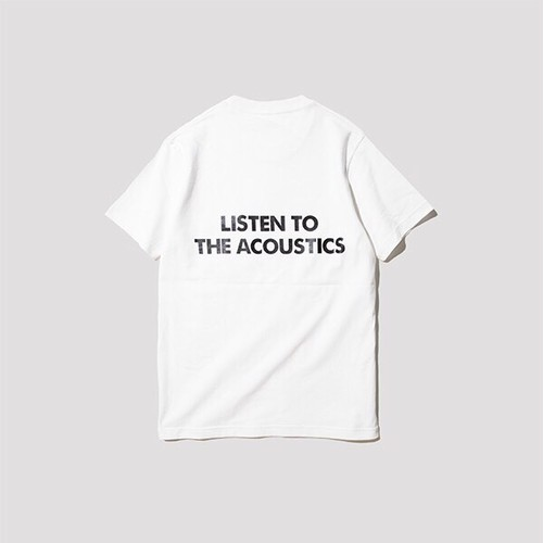 """LISTEN TO THE ACOUSTICS"" T-Shirts [white]"