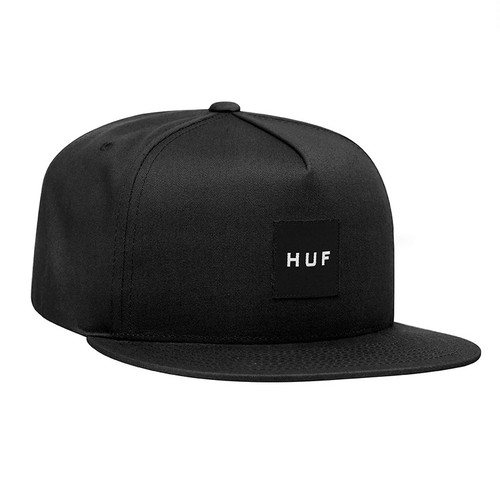 ESSENTIALS BOX SNAPBACK HAT BLACK