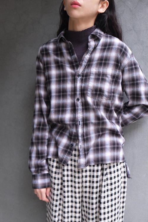ombre check blouse.