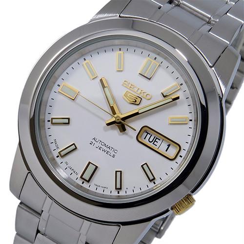 セイコー セイコーファイブ SEIKO 5 自動巻き メンズ 腕時計 SNKK07J1 ホワイト ホワイト