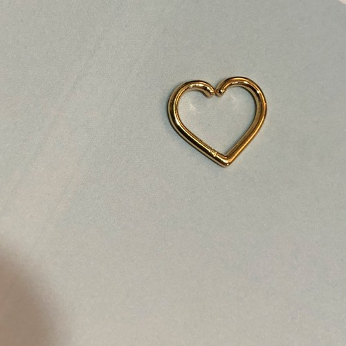 HEART Daith body jewelry 16G K18YG #LJ18001P ハート ダイス ボディピアス