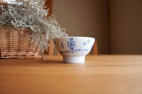 砥部焼/くらわんか茶碗(小)/バレリーナ/森陶房Kaori
