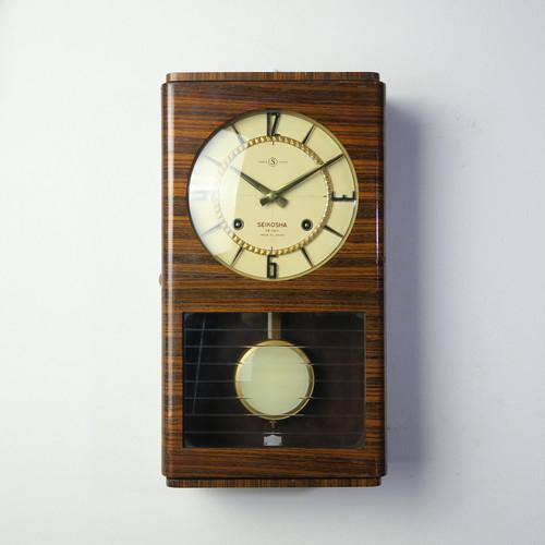 SEIKOSHA 精工舎 60's角型柱時計 レトロモダンなデザイン