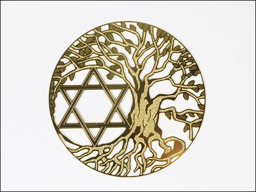 神聖幾何学図形・タリズマン(護符)エナジーカード・生命の樹&六芒星(調和)