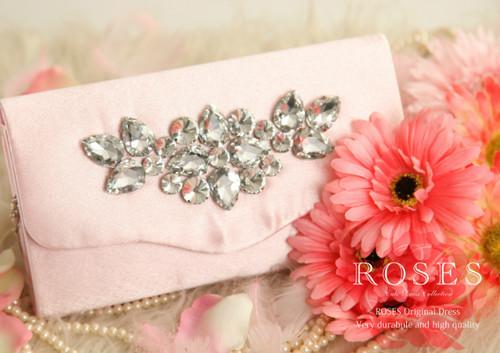 【ROSES OUTLET】⑥プリンセスビジュークラッチ ピンク