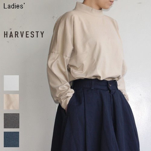 HARVESTY モックネックカットソーL/S Mockneck Long Sleeve A51802