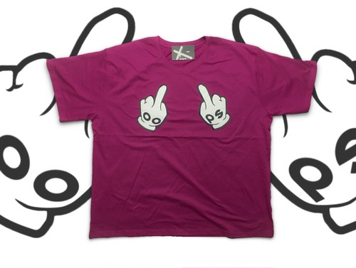 HAND SIGN TEE SHOCKINGPINK