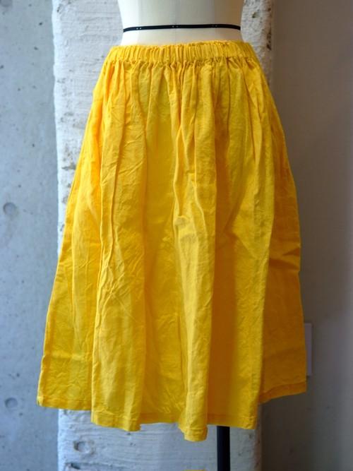 ヤンマ産業 リネンギャザースカート 70cm丈
