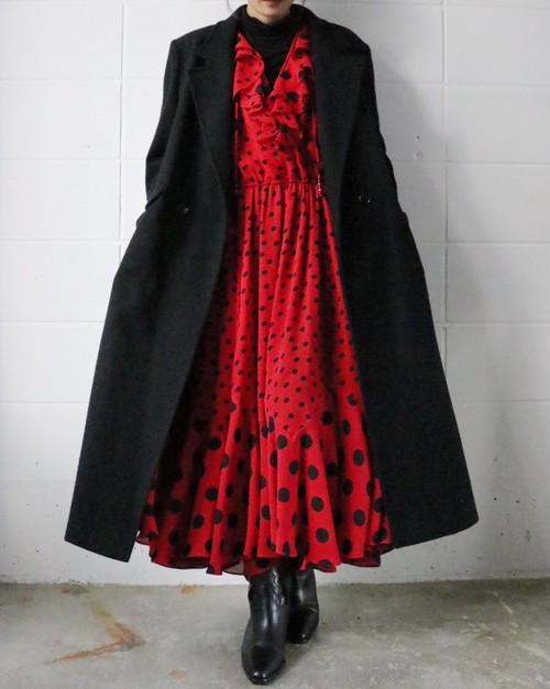 80's black Chesterfield coat