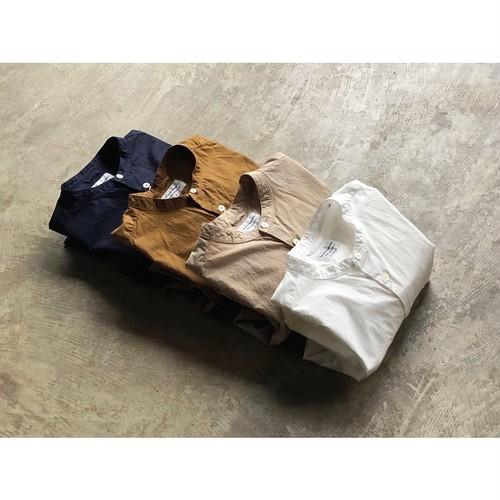 再入荷 Manual Alphabet(マニュアルアルファベット) Loose Fit Band Collar Shirt