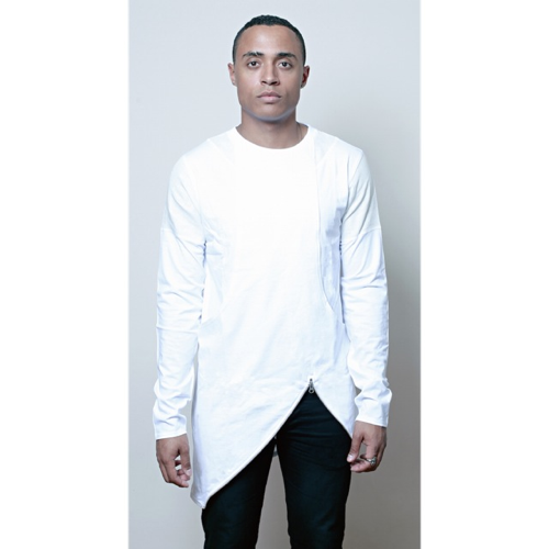 ADED BY MARKFANT-LONG SLEEVE TEE 1 WHITE