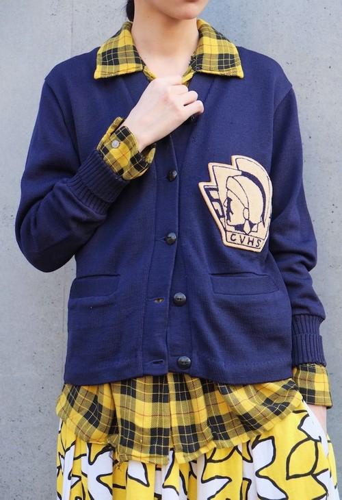 vintage/high school cardigan.