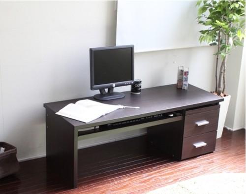 ロータイプ 書斎デスク ダブルスライドテーブル仕様 120cm幅