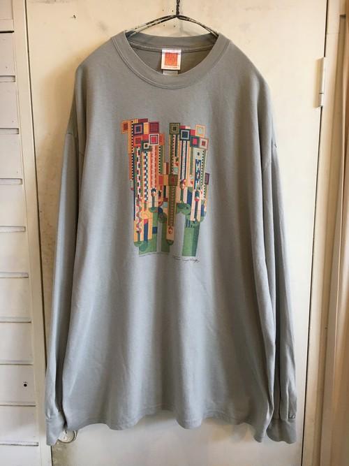 """Frank Lloyd Wright"" printed L/S t-shirts"