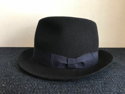 Circle original handmade HAT「Wool navy hat」