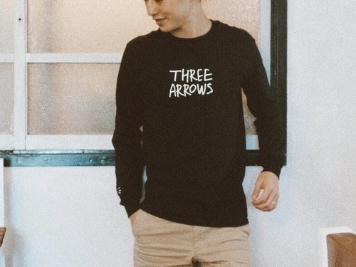 THREEARROWS LOGO L/S TEE(black)