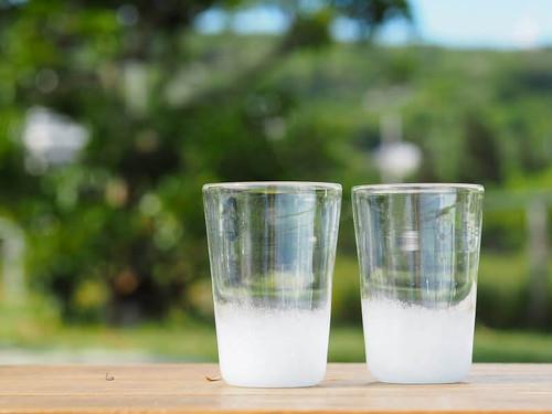 叢雲(むらくも)オリオングラス 再生ガラス工房てとてと 松本栄 琉球ガラス