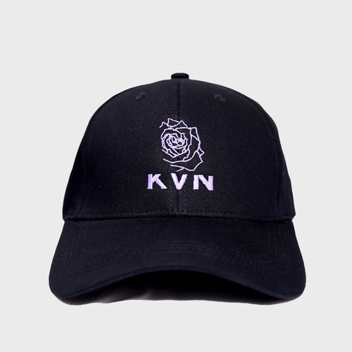 """Half Rose""Cap(Purple)"