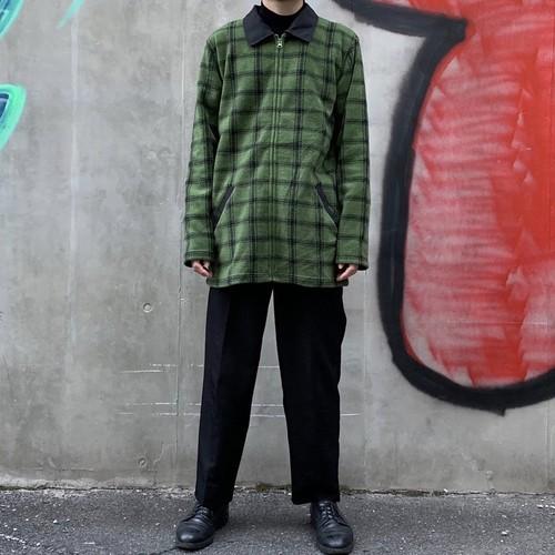 クレリックチェックフリースシャツジャケット
