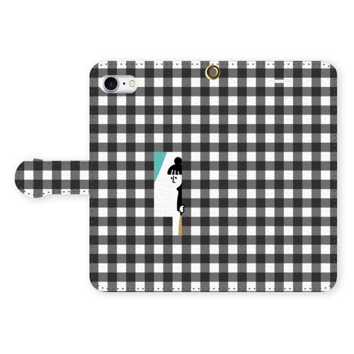 【ギンガムガール】手帳型 phone case (iPhone / android)
