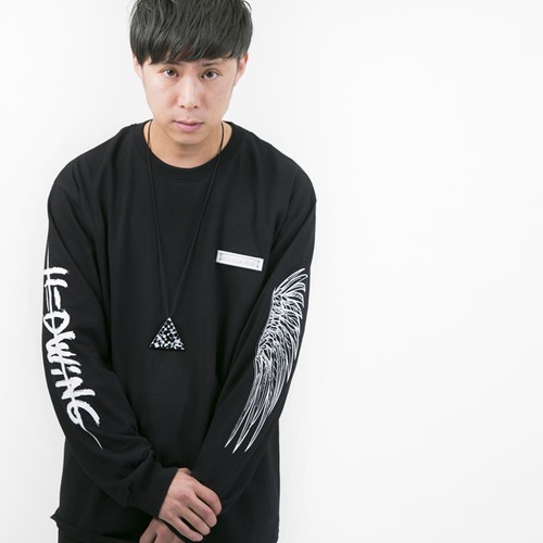 """KATAYOKU"" long sleeve T-shirt	Black"