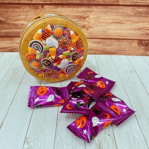 ハロウィン バスケット丸缶 1個
