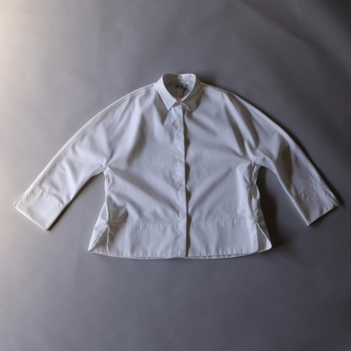 TENNE HANDCRAFTED MODERN テンハンドクラフティドモダン Gusset Sleeve Shirt With Collar White