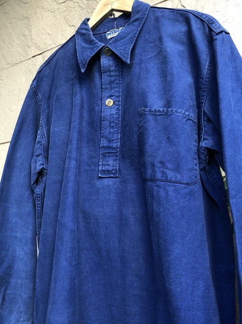 1950s German blue cotton pullover shirts