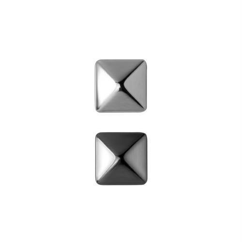 ピラミッド スタッドピアス | スタッズ | シルバー925 | メタリック | シンプル | 金属アレルギー