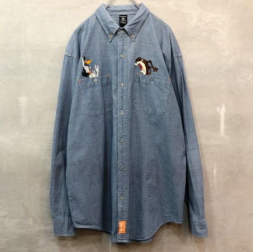 ルーニー・テューンズ デニム刺繍 長袖シャツ  #935