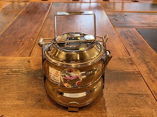 インドのお弁当箱(ベーグル型)16cm  ☆先着10名様にインドヒンドゥー教の神様牛型の昆布つき