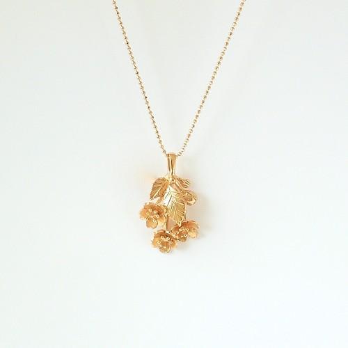 桜の一房ネックレス(skr-nk-1pg)