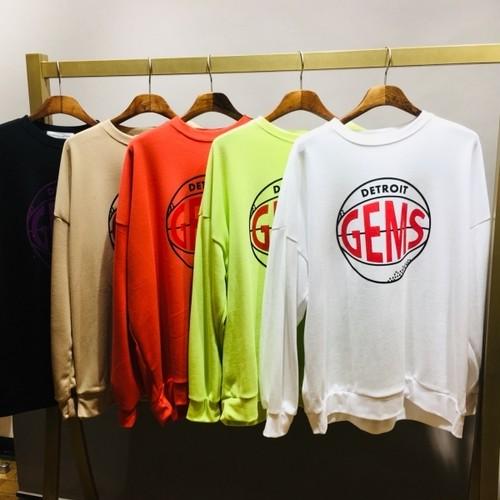 予約注文商品 GEMSトレーナー ★UTNISEX トレーナー スウェット MTM  韓国ファッション