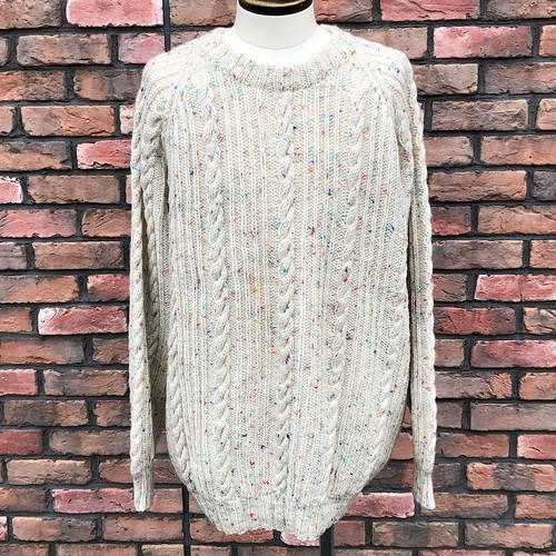 1980s Handmade Cable Sweater Made In England