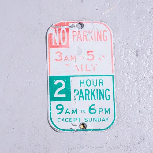 NO PARKING 3-5 アメリカンロードサイン 道路標識  S