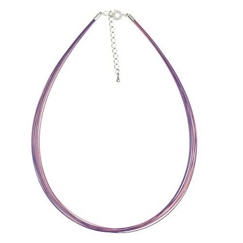 12連2色(ピンク&紫)カラーワイヤーネックレス