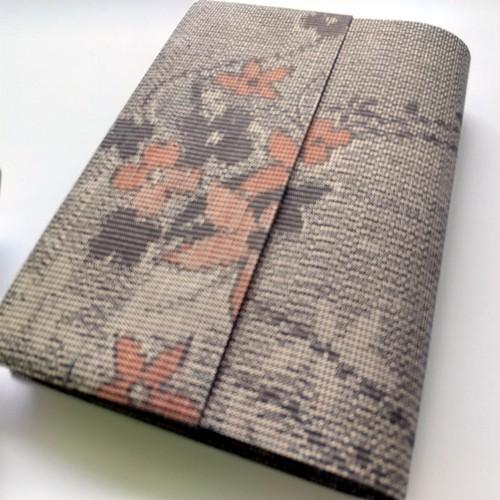 文庫本セパレート式ブックカバー(絹・紬)hb085