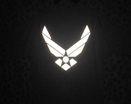 US AIR FORCE リフレクターTシャツ/USA古着レディース学芸大学マイフェイバリット