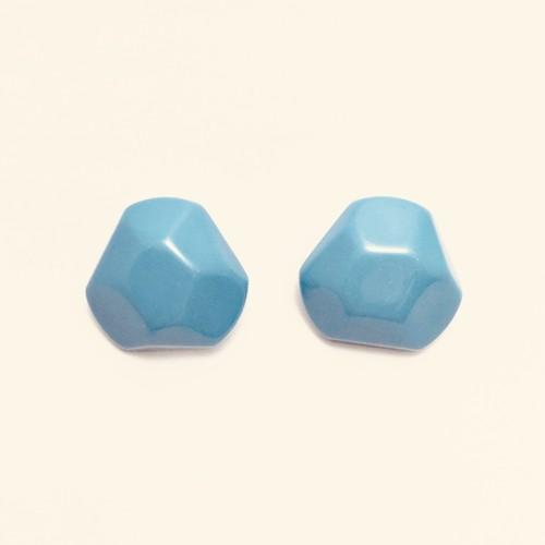 ヴィンテージ プラスチックイヤリング ブルー