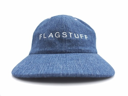 "DENIM CAP ""F-LAGSTUF-F"" WASH DENIM NAVY   17AW-FS-60"