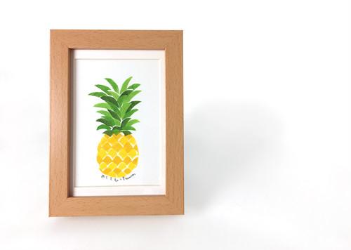 机の上に置くハワイ気分なパイナップルアート