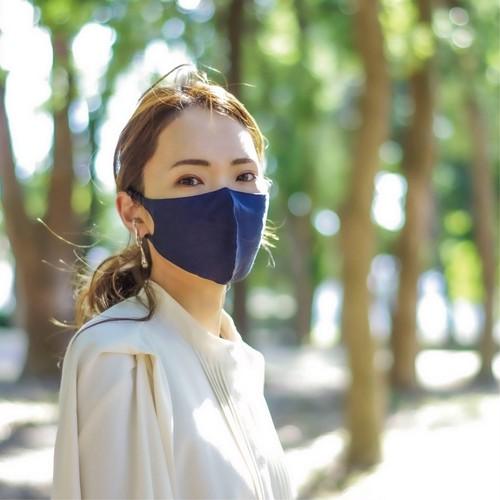 3層シルクマスク ギャザータイプ /カラー:ネイビー【bionatural】