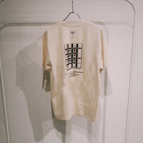 TENKI × A Man Collaboration Tee Natural × Black