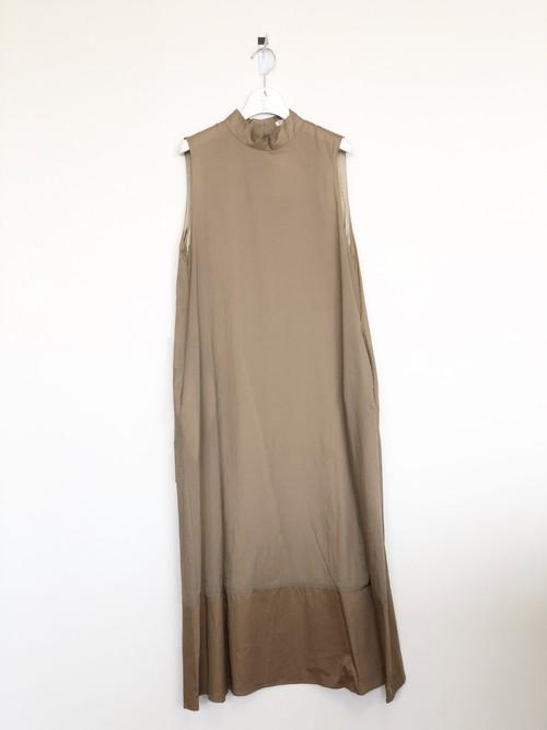 A   PUPIL / HNK NSLV DR / ハイネックノースリーブドレス